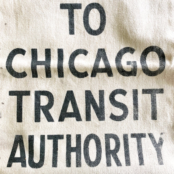 Vintage Chicago Transit Authority Money Bag