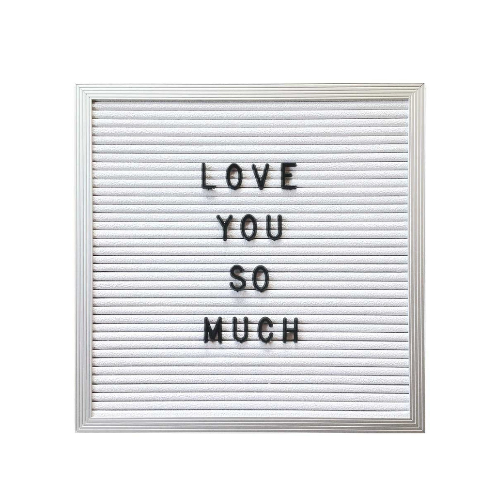 10quot x 10quot letter board white three potato four With black message board white letters