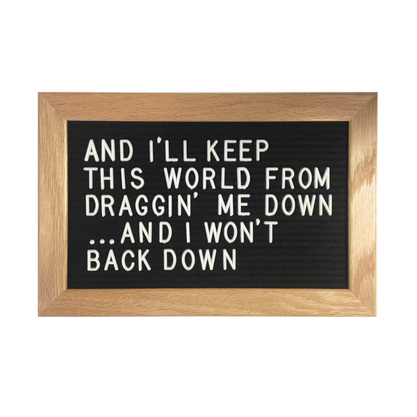 "12"" x 8"" WOOD FRAME LETTER BOARD - BLACK"