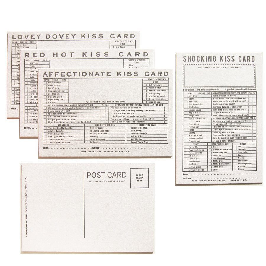KISS CORRESPONDENCE CARDS