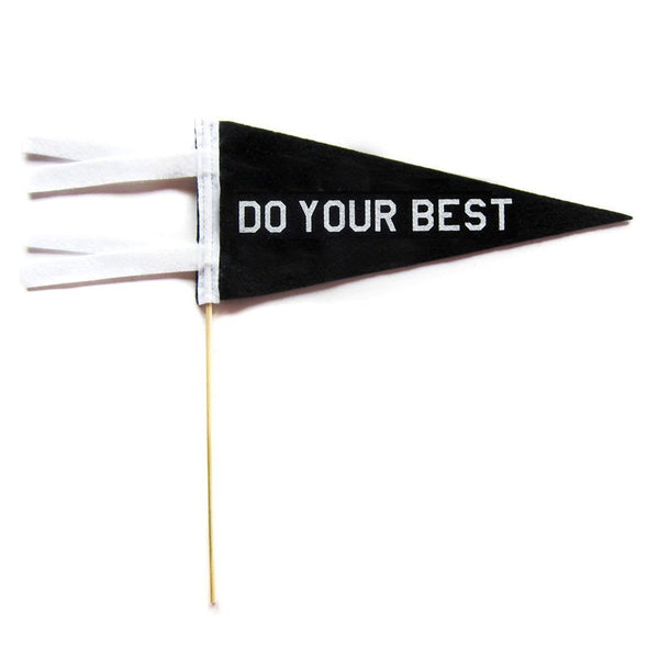 Vintage Style Mini Felt Pennant Banner Flag Do Your Best Boy Cub Scouts