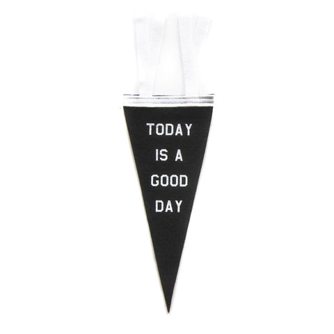 Vintage Style Mini Felt Pennant Banner Flag Today Is A Good Day