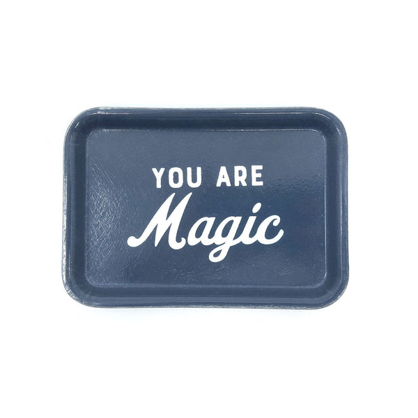YOU ARE MAGIC SMALL DARK BLUE VINTAGE-STYLE TRINKET TRAY