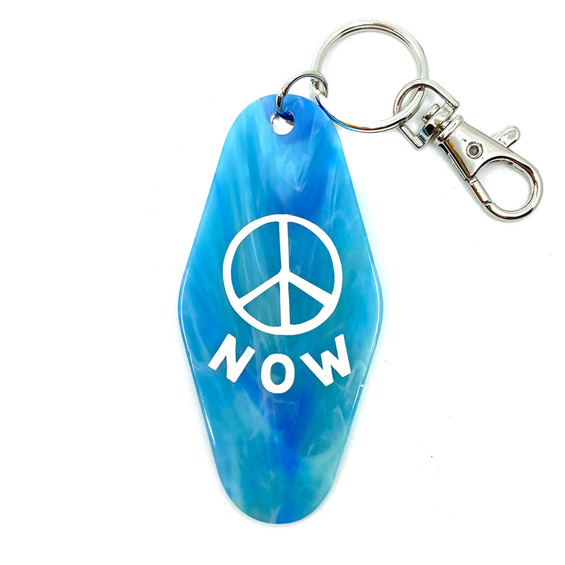 Peace Now Key Tag
