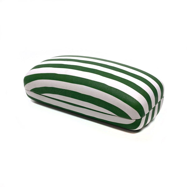 Sunglasses Case - Green Stripes (Pre-Order)