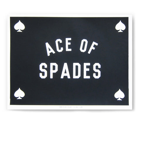 ACE OF SPADES Silkscreen Print