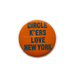 Vintage Button Circle K NYC