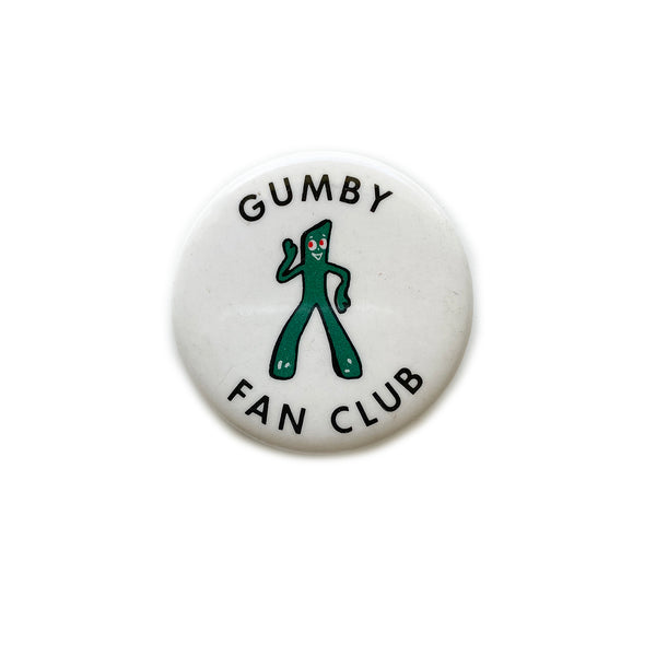 Vintage Button - Gumby Fan Club