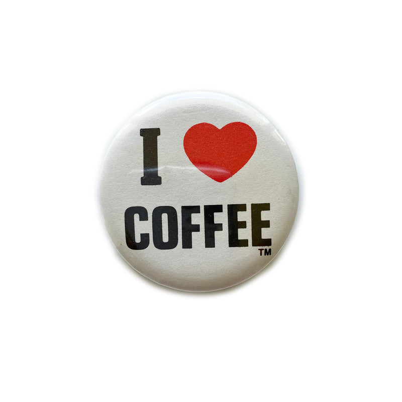 Vintage Button - I Love Coffee
