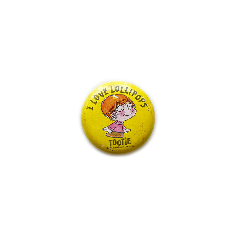 Vintage Button (Mini) - I Love Lollipops