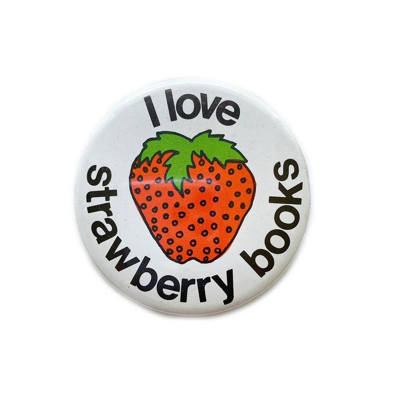 Vintage Button - Strawberry Books