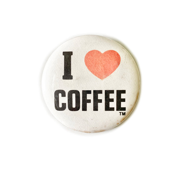 Vintage Button - Coffee