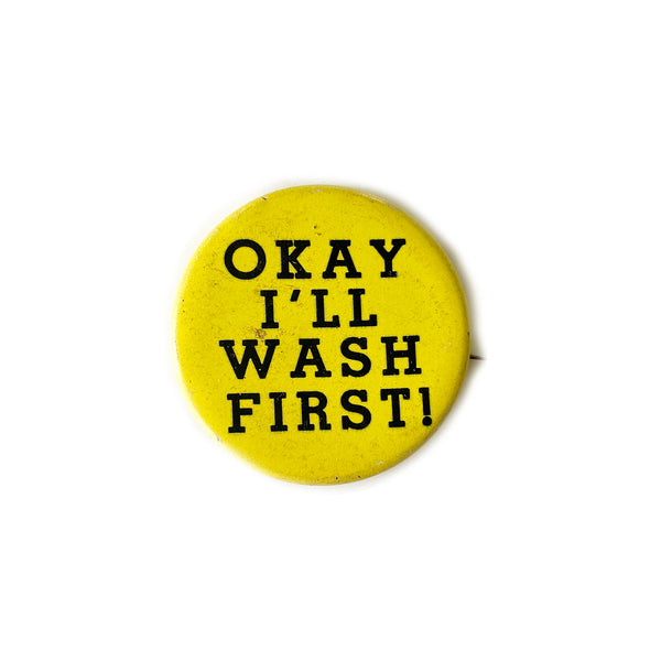 Vintage Button - Wash First