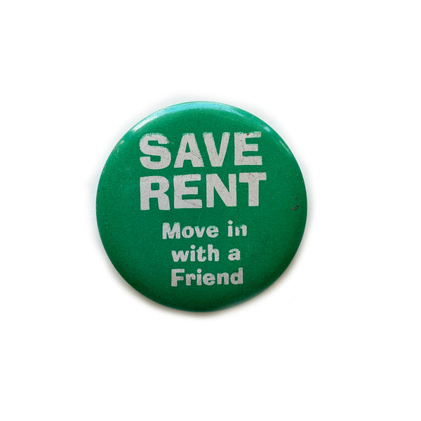 Vintage Button - Save Rent