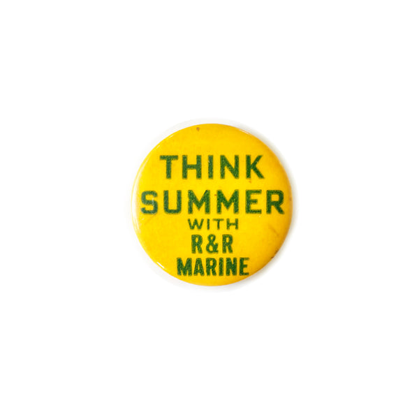 Vintage Button - Think Summer