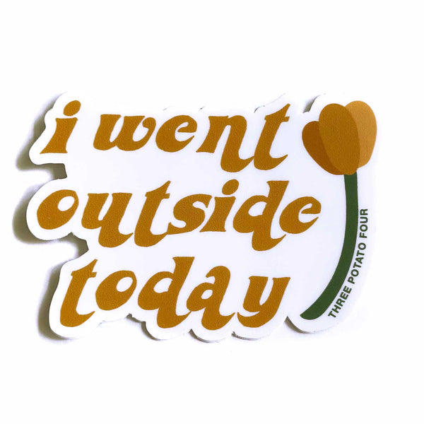 Sticker - I Went Outside Today