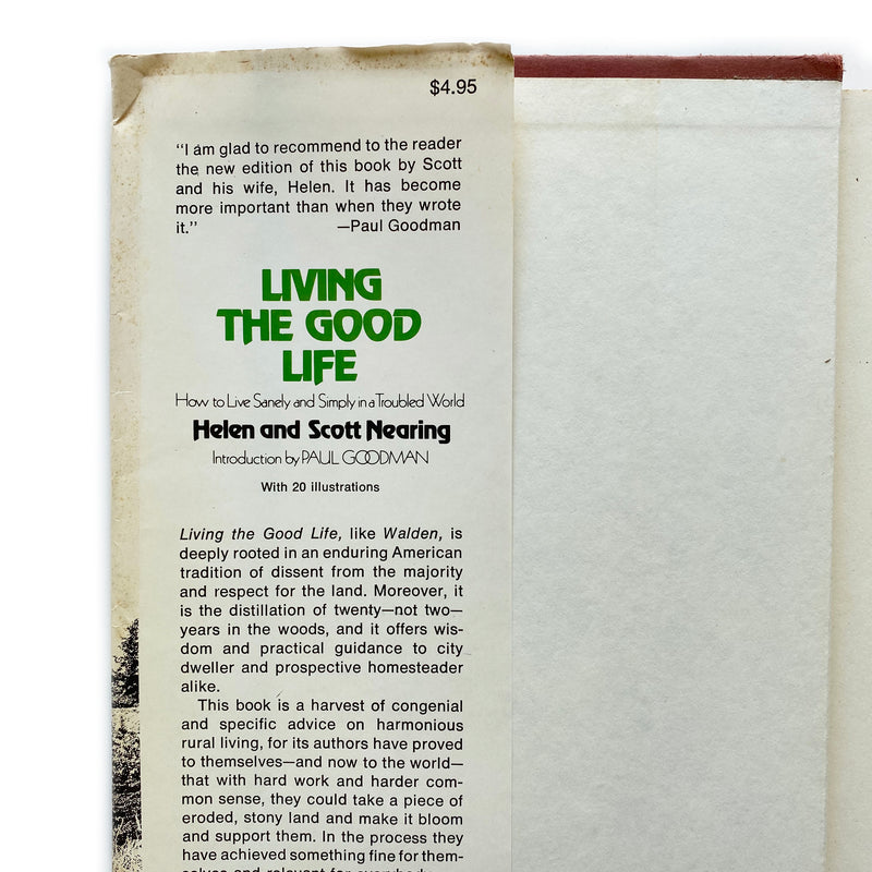 Vintage Book - Living The Good Life, Helen and Scott Nearing