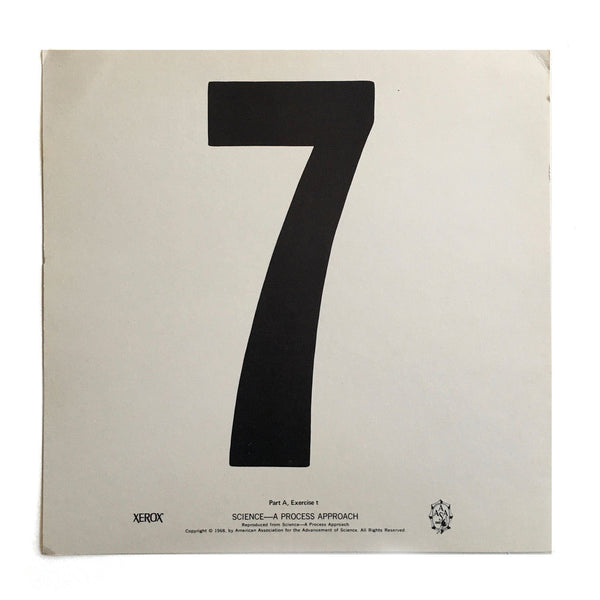 """7"" Number Poster"