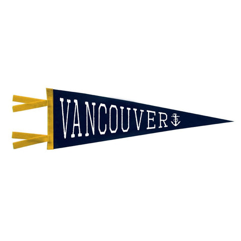 Vintage Style Felt Pennant Banner Flag Vancouver Canada Anchor