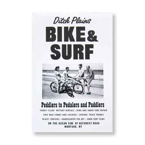ROADSIDE SIGN POSTER - BIKE & SURF