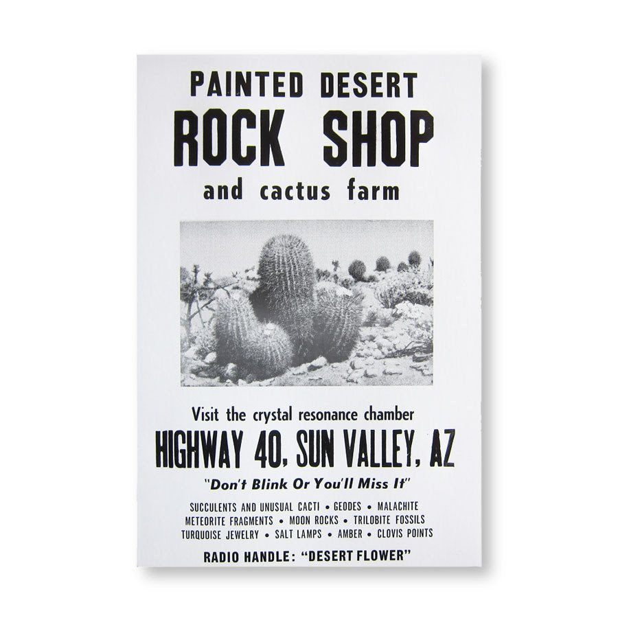 Roadside Sign Poster Rock Shop Three Potato Four