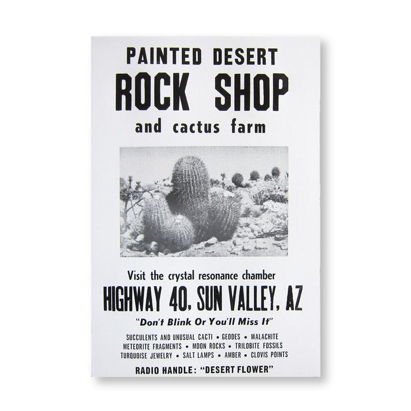 ROADSIDE SIGN POSTER - ROCK SHOP
