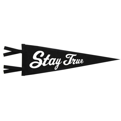 Vintage Style Felt Pennant Banner Flag Stay True