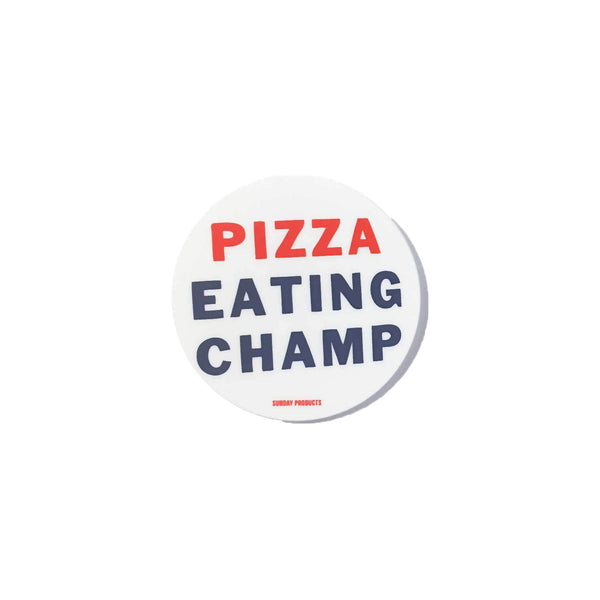 PIZZA EATING CHAMP STICKER