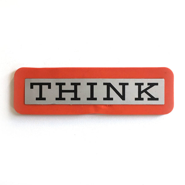 IBM THINK Plaque - Orange