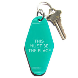 THIS MUST BE THE PLACE VINTAGE KEY TAG - TRANSLUCENT GREEN WITH WHITE LETTERING
