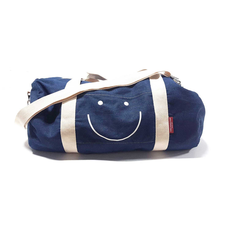 Happy Face Denim Duffle Bag