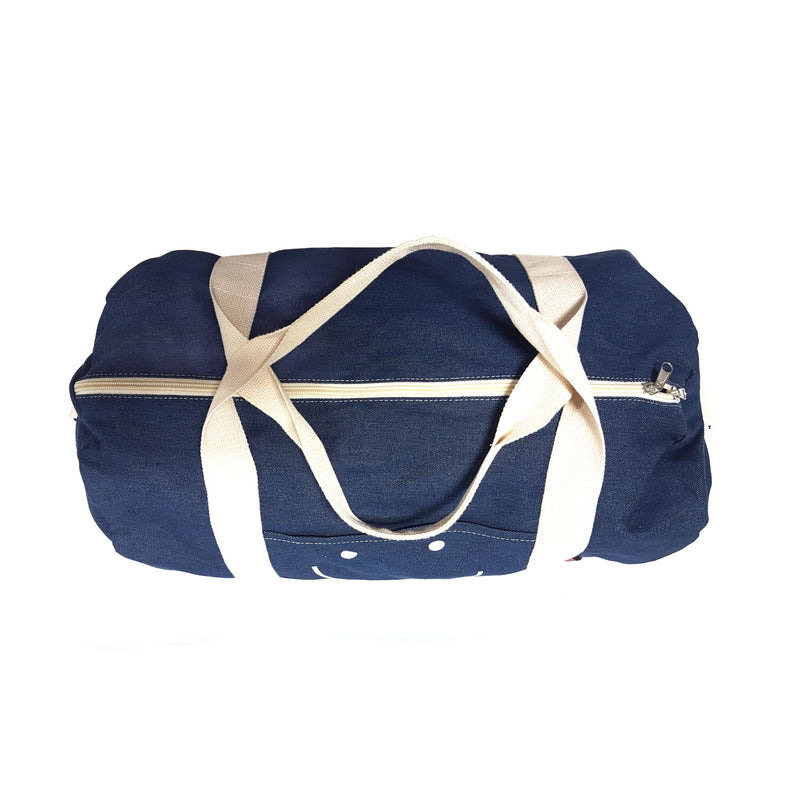 Happy Face Denim Duffle Bag (Pre-Order)