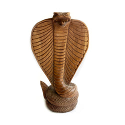 Vintage Hardcarved Folk Art Cobra Snake