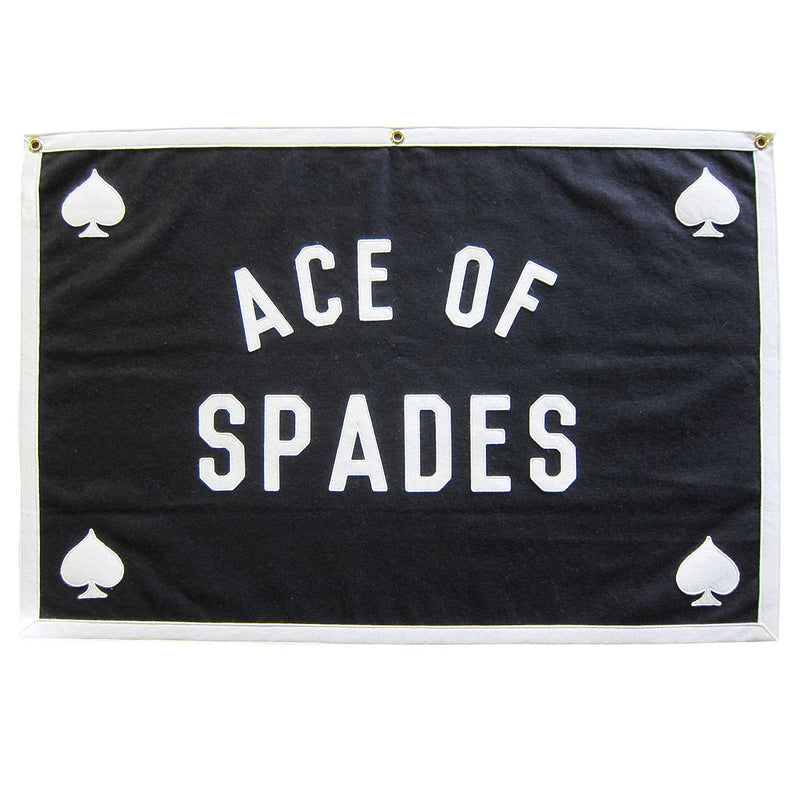 ACE OF SPADES - STITCHED FELT WALLHANGING