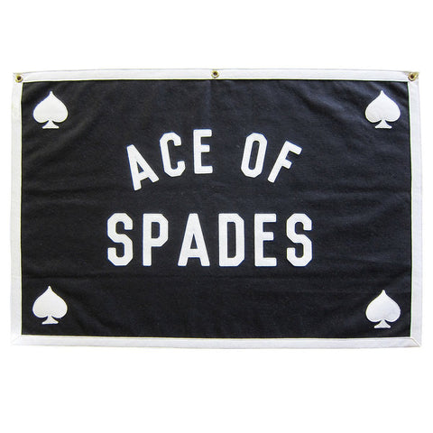STITCHED FELT BANNER - ACE OF SPADES