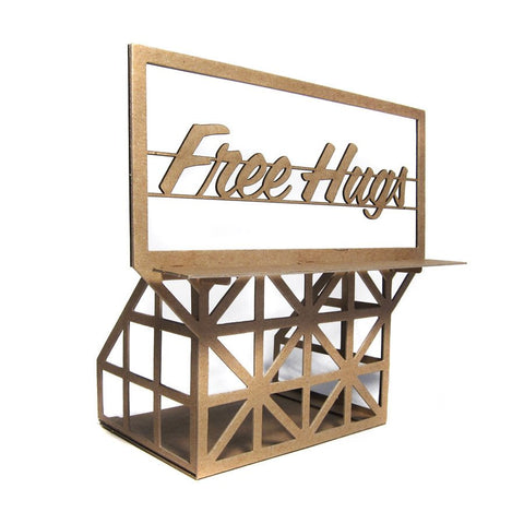 FREE HUGS BILLBOARD MODEL KIT