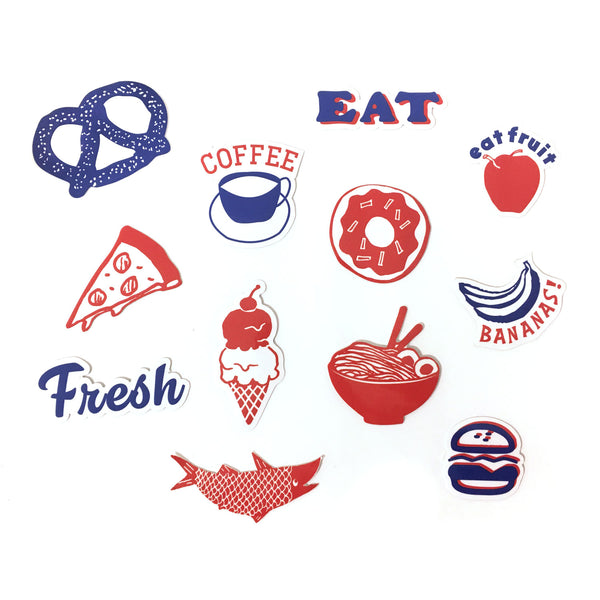 Pocket Sticker Set - People Who Love to Eat