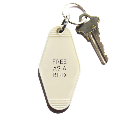 FREE AS A BIRD KEY TAG - WHITE