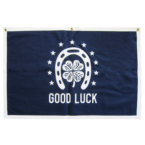 STITCHED FELT BANNER - GOOD LUCK Americana