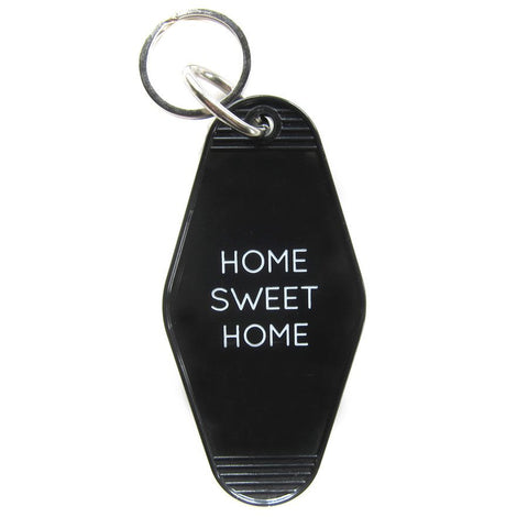 Vintage Style Hotel Motel Plastic Keychain Key Tag Fob Home Sweet Home