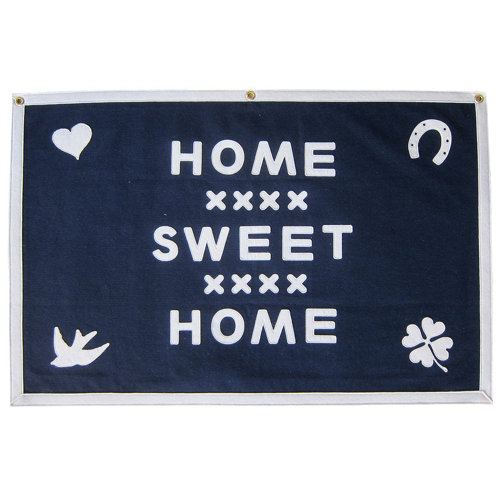 HOME SWEET HOME FOLK ICONS - STITCHED FELT WALLHANGING