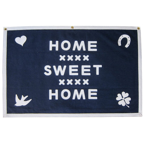 STITCHED FELT BANNER - HOME SWEET HOME FOLK