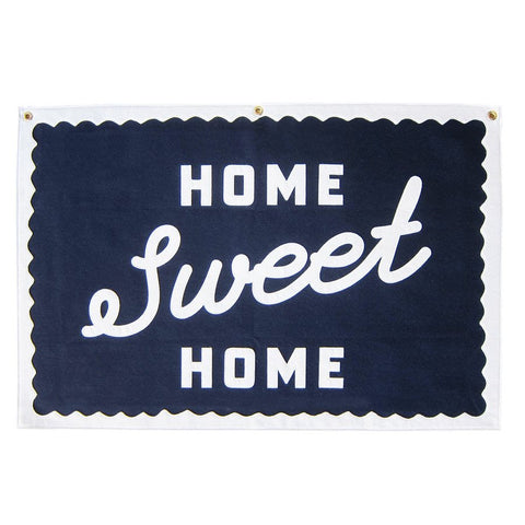 HOME SWEET HOME SCRIPT - STITCHED FELT WALLHANGING