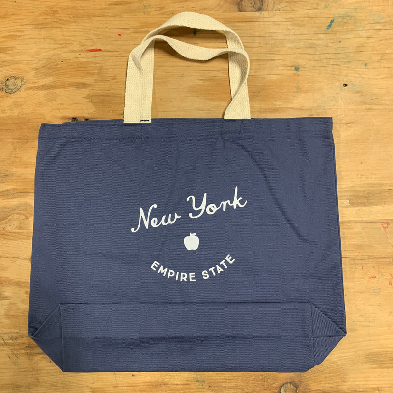 New York City Navy Tote Bag