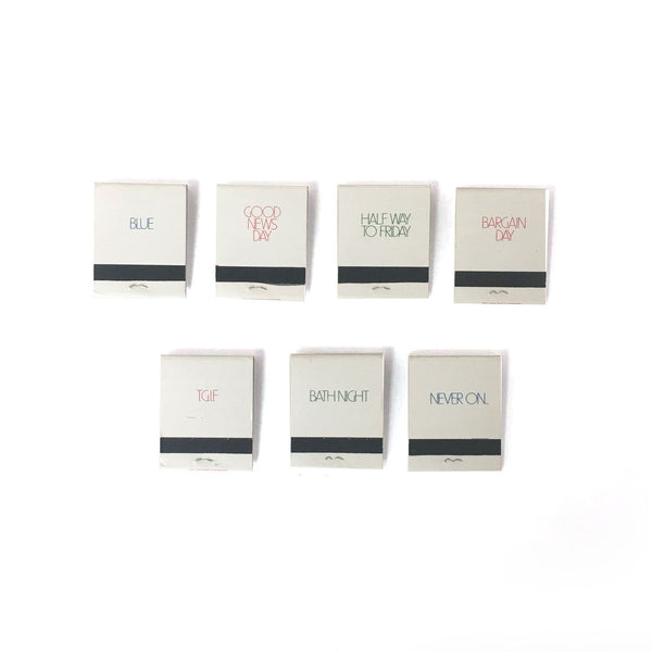 Day of the Week Matchbook Set