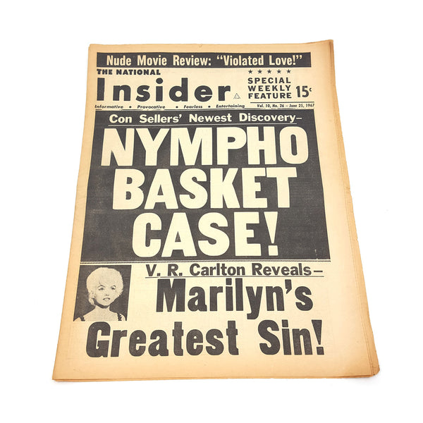 "Insider Newspaper ""Nympho Basket Case"""