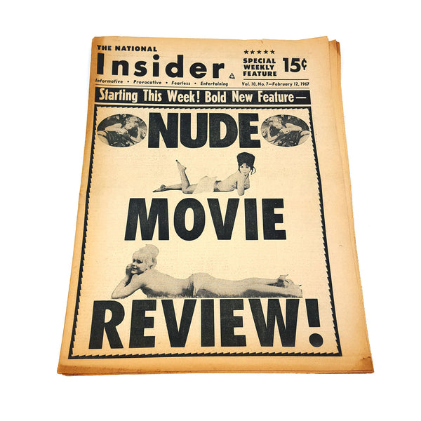 "Insider Newspaper ""Nude Movie Review!"""
