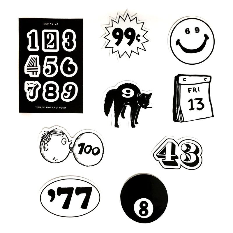 Pocket Sticker Set - Numbers