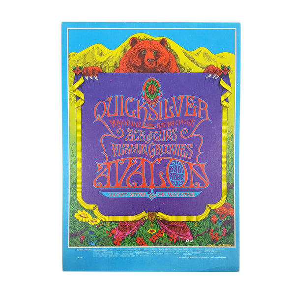 Avalon Ballroom Postcard - Quicksilver, Ace of Cups, Flamin Grooves