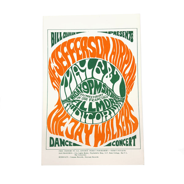 Fillmore Auditorium Postcard - Jefferson Airplane